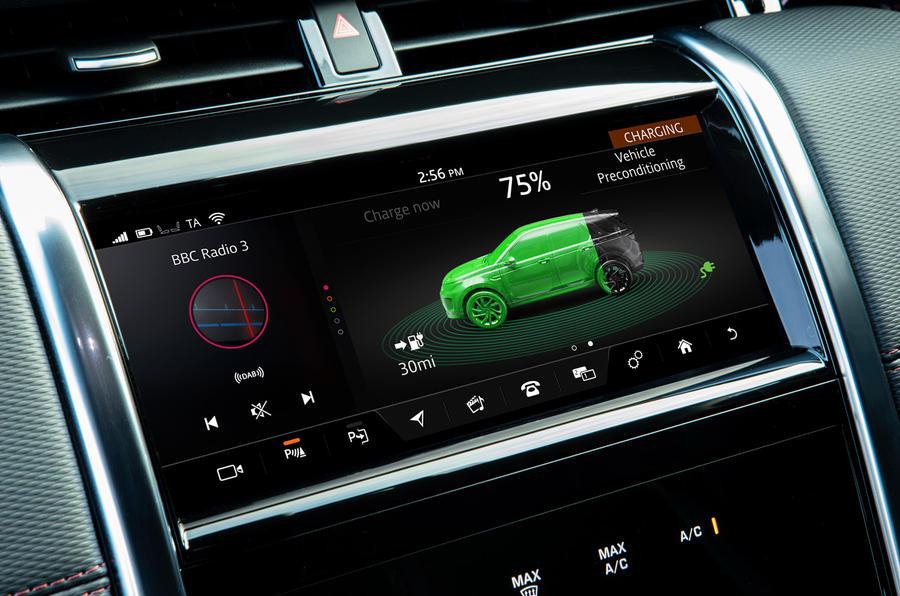 7 Land Rover Discovery P300e 2021 UE FD modes hybrides
