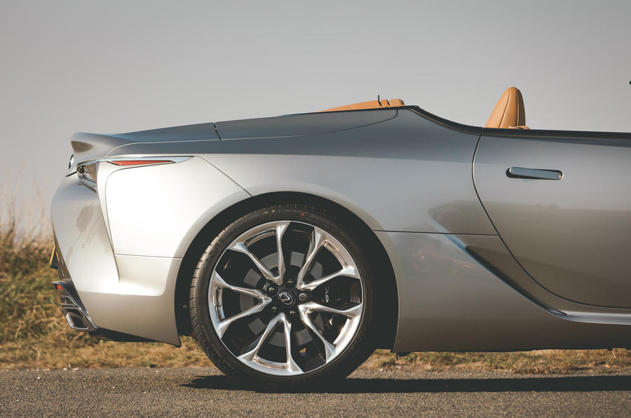 Lexus LC Convertible 2020 UK first drive review - rear arch