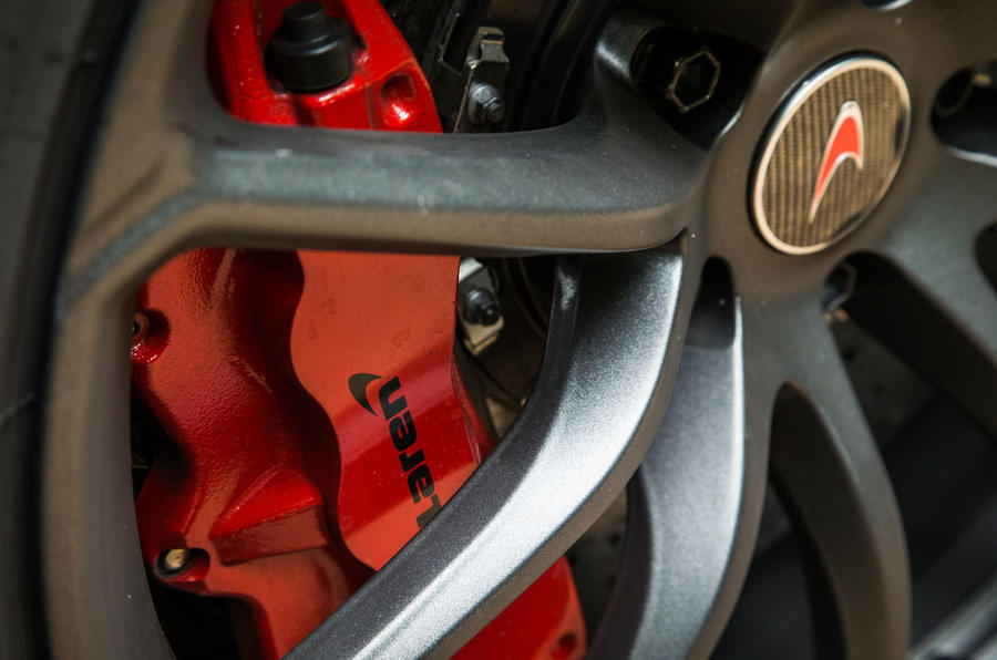 McLaren 570S Spider Track Pack 2018 UK review brake calipers