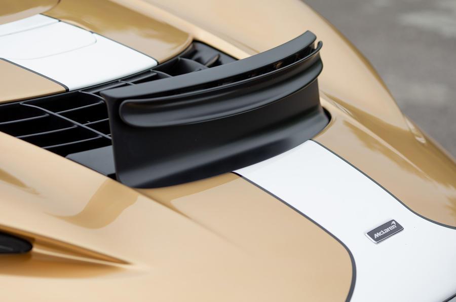 7 McLaren Elva 2021 UE FD déflecteur d'air vers le haut