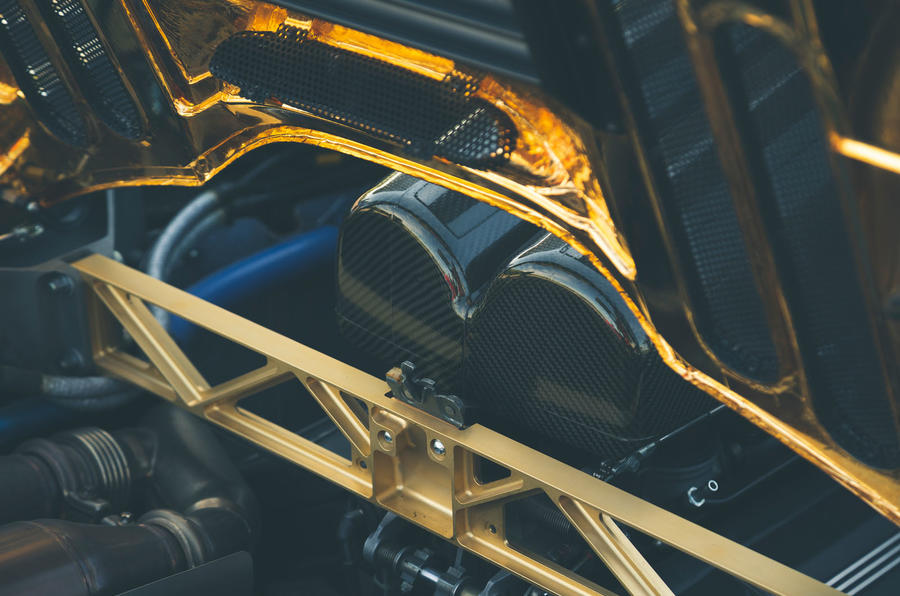 McLaren F1 named Readers' Champion - gold engine bay