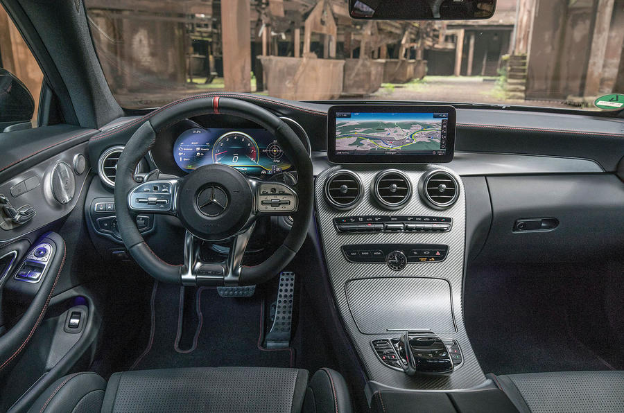 Mercedes-AMG C43 2018 first drive review dashboard