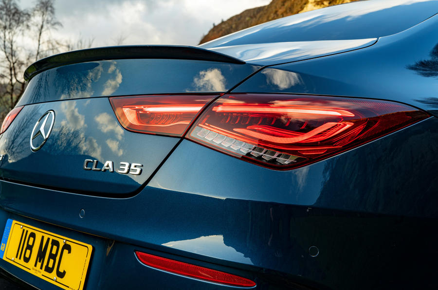 Mercedes-AMG CLA35 2020 UK first drive review - rear lights