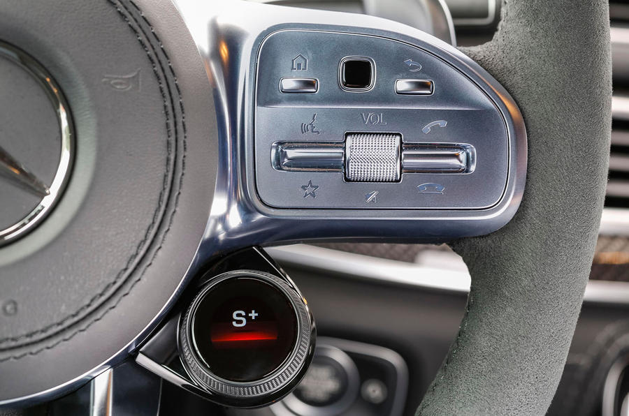 Mercedes-AMG GLE 53 2020 first drive review - steering wheel buttons