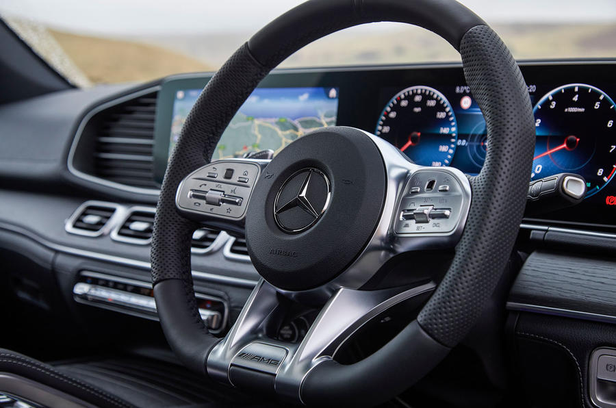 Mercedes-AMG GLE 53 2020 UK first drive review - steering wheel