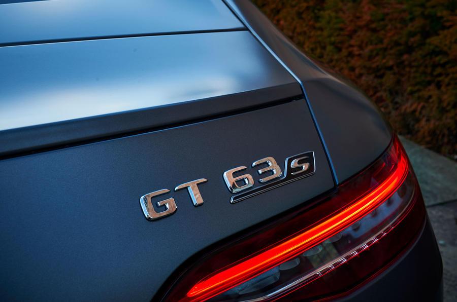 Mercedes-AMG GT 63 S 4-door Coupé 2019 UK first drive review - GT63 badge