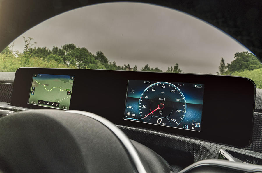 Mercedes-Benz A-Class A180 SE 2019 first drive review - digital dashboard