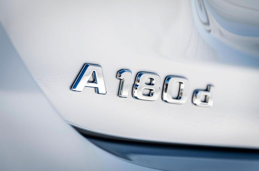 Mercedes-Benz A-Class A180D badge