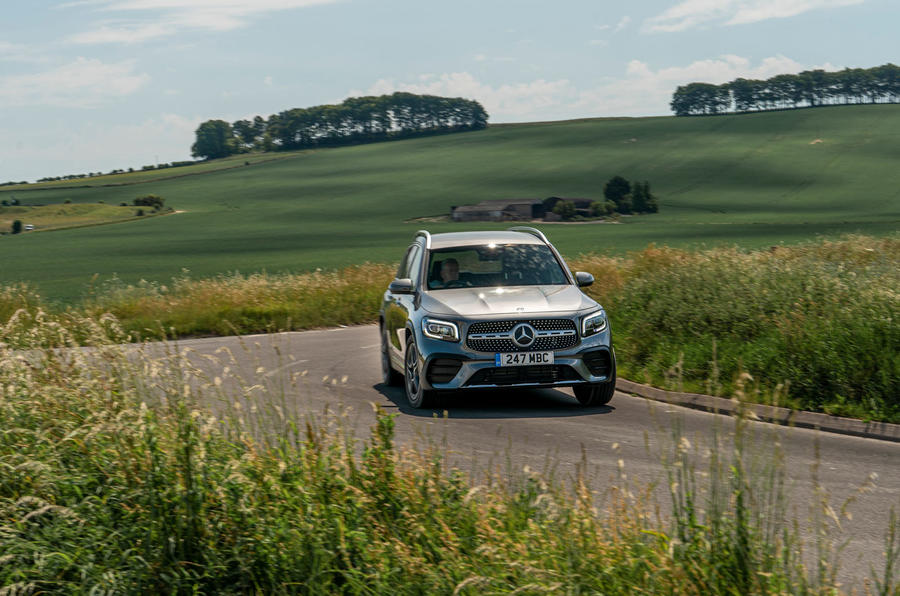 Mercedes-Benz GLB 2020 UK first drive review - cornering front