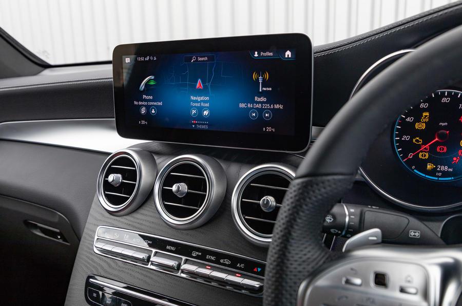 Mercedes-Benz GLC 300 2020 UK first drive review - infotainment