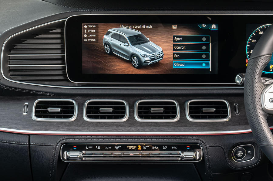 Mercedes-Benz GLE 2019 UK first drive review - infotainment