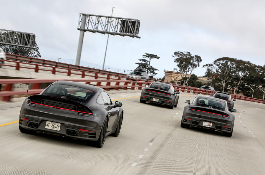 2019 Porsche 911 prototype first ride - freeway