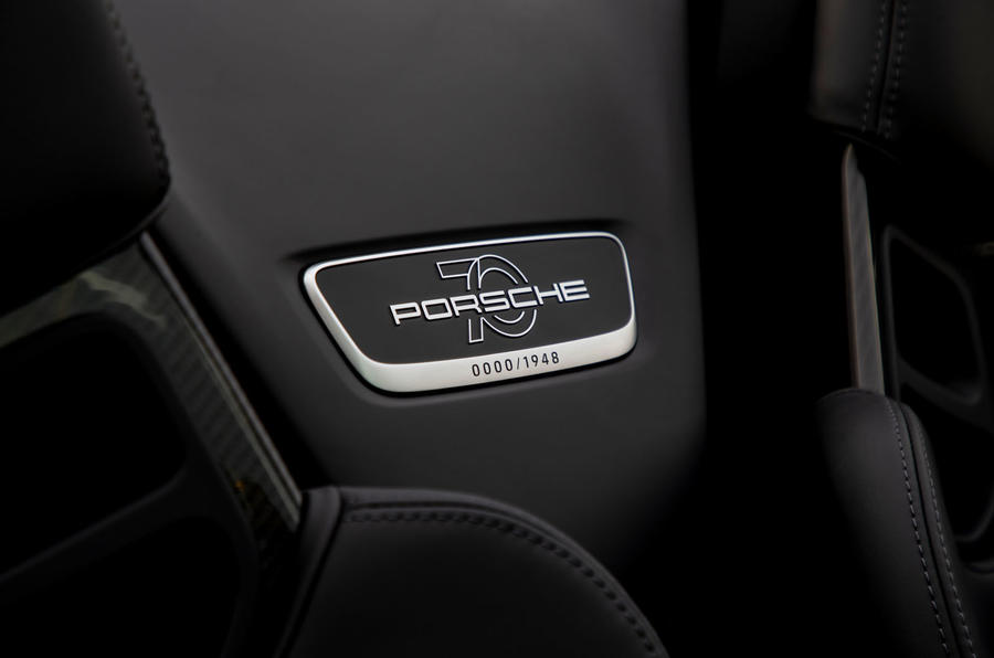 Porsche 911 Speedster 2019 first drive review - plaque