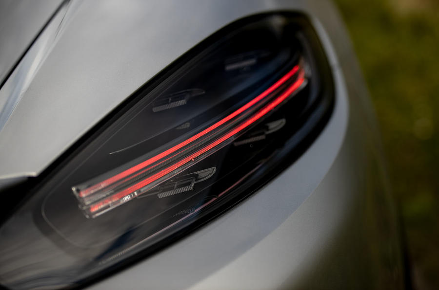 Porsche 718 Boxster Spyder 2019 first drive review - rear lights