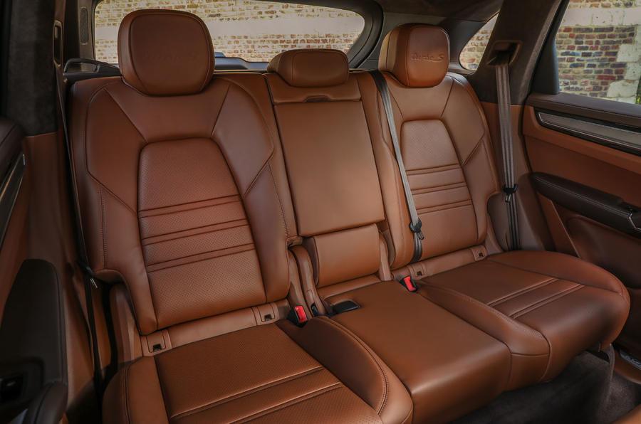 Porsche Cayenne Turbo S E-hybrid 2019 first drive review - rear seats