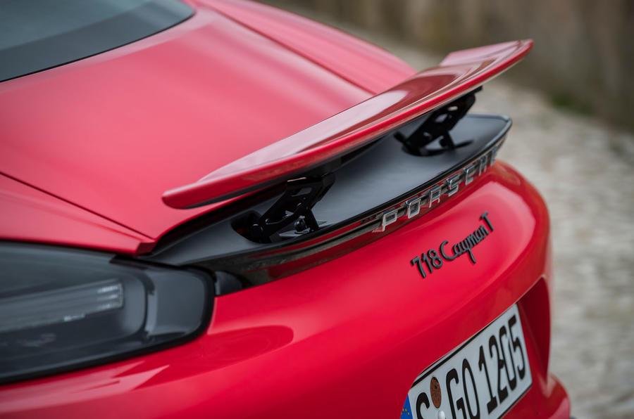 Porsche Cayman T 2019 first drive review - spoiler