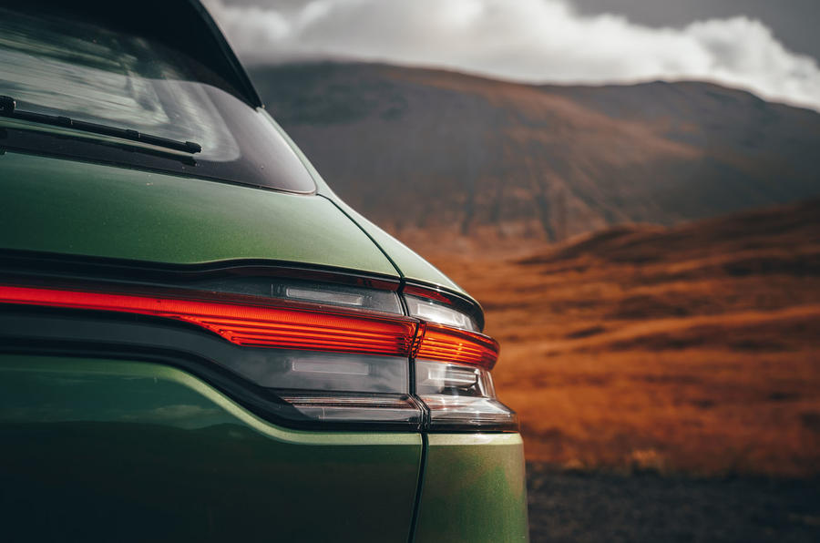 Porsche Macan 2019 first drive review - rear lights