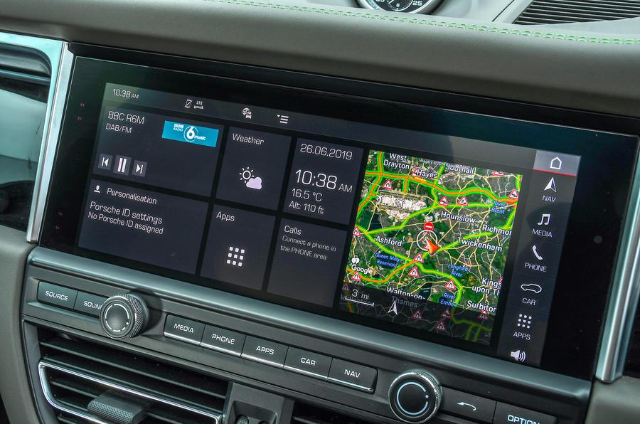 Porsche Macan S 2019 UK first drive review - infotainment