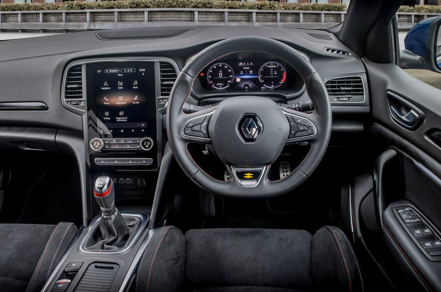 Renault Megane Sport 2020 UK first drive review - steering wheel