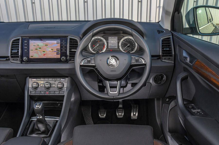 Skoda Karoq Scout 2019 first drive review - dashboard