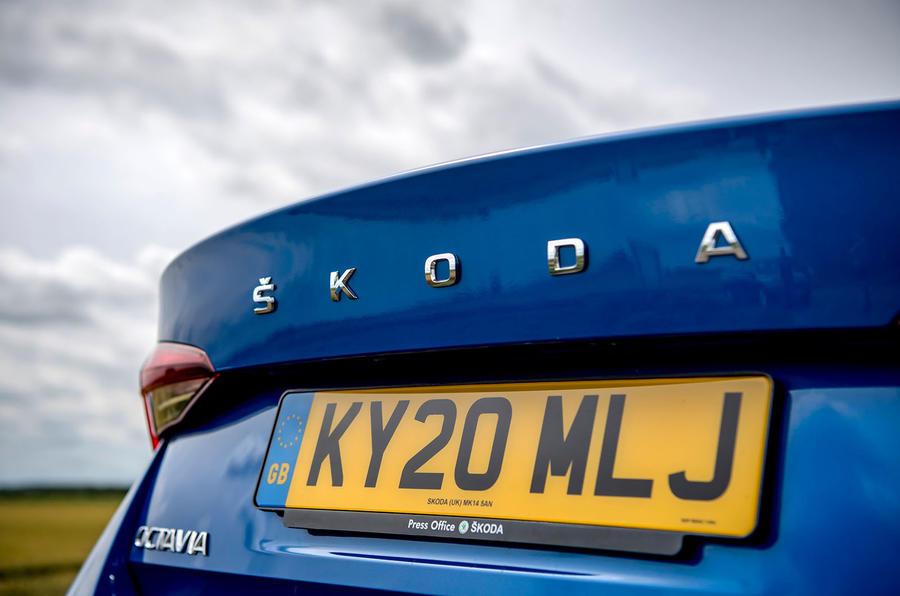 Skoda Octavia hatchback 2020 UK first drive review - rear badge