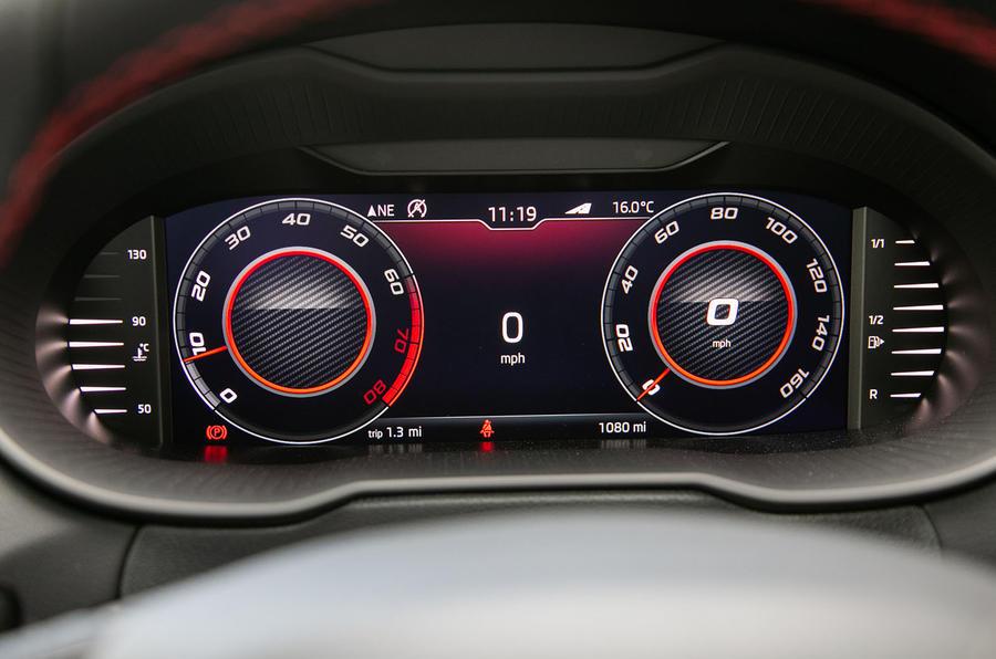 Skoda Octavia vRS Challenge 2019 UK first drive review - instruments