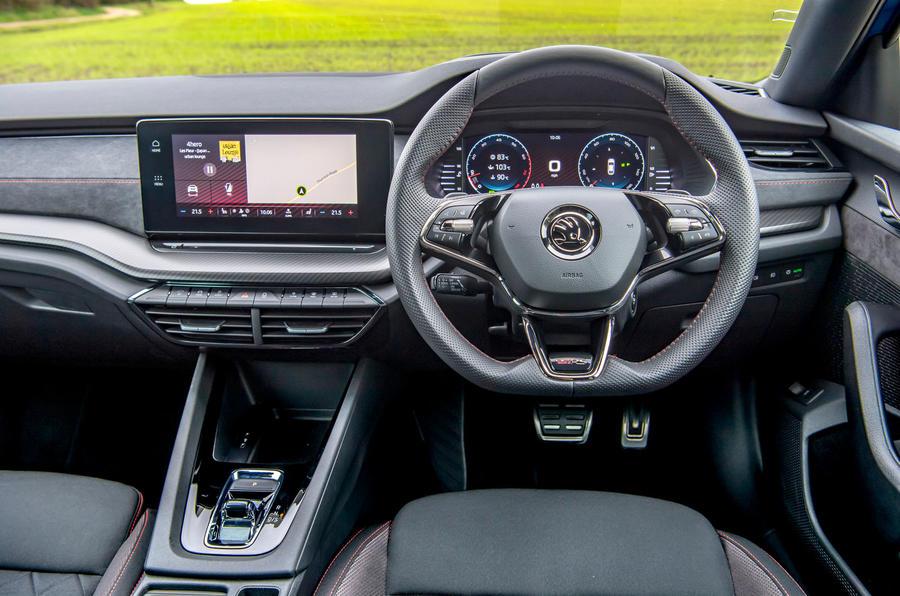 Skoda Octavia vRS TDI 2021 UK first drive review - dashboard