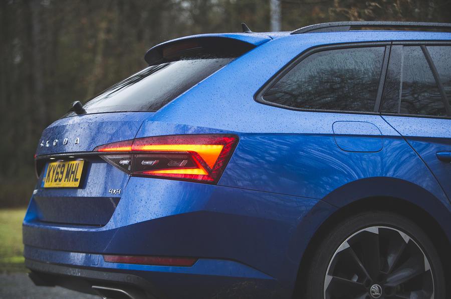Skoda Superb Estate Sportline 2020 UK first drive review - rear end