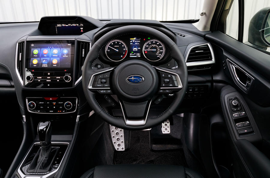 Subaru Forester eBoxer 2019 UK first drive review - dashboard
