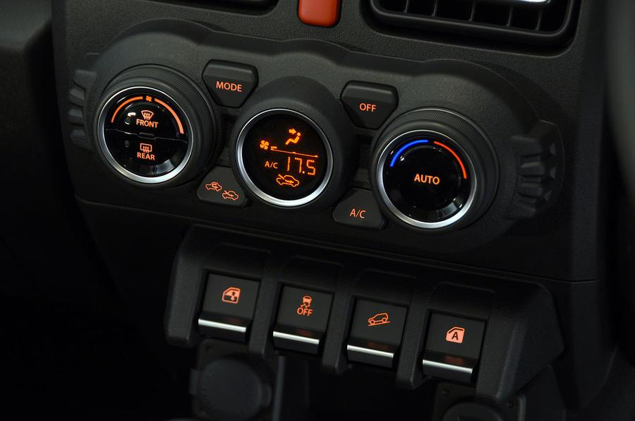 Suzuki Jimny 2018 UK first drive review - climate controls