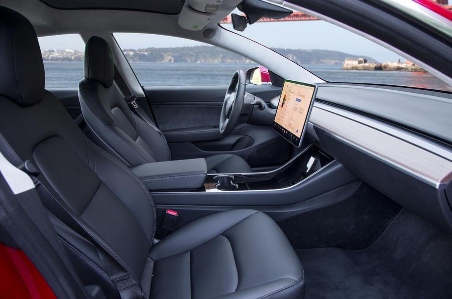 tesla model 3 2018 review autocar. Black Bedroom Furniture Sets. Home Design Ideas