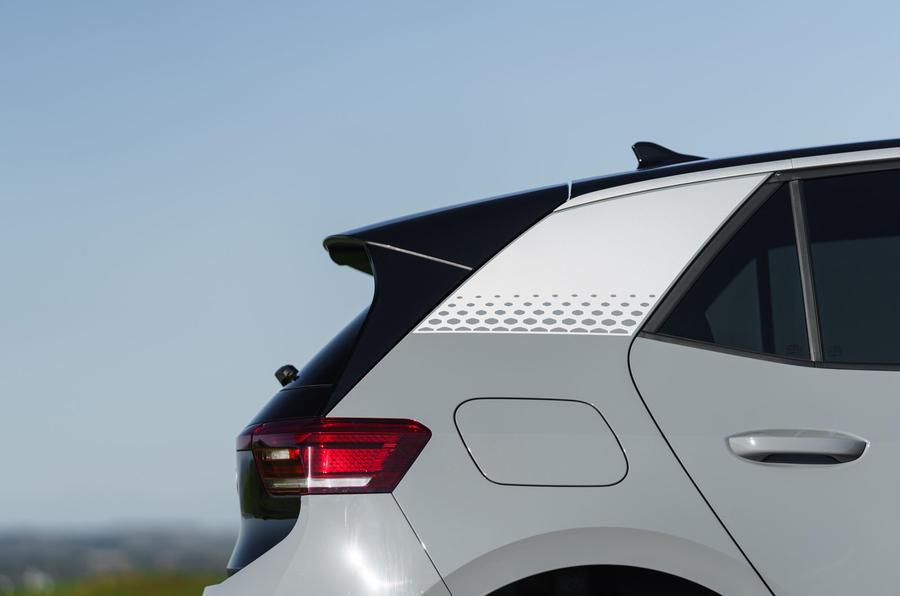 Volkswagen ID 3 2020 UK first drive review - rear spoiler
