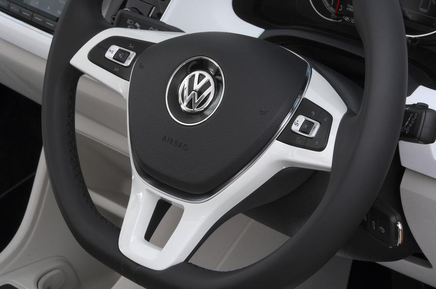 Volksawgen Up 1.0 2020 UK first drive review - steering wheel