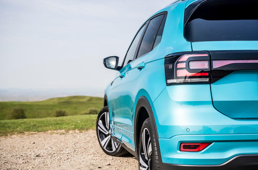 Volkswagen T-Cross R-Line 2020 UK first drive review - rear end