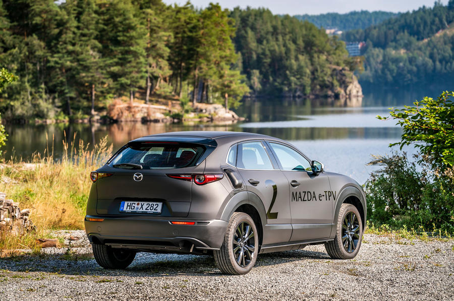Mazda e-TPV prototype 2019 first drive review - static rear