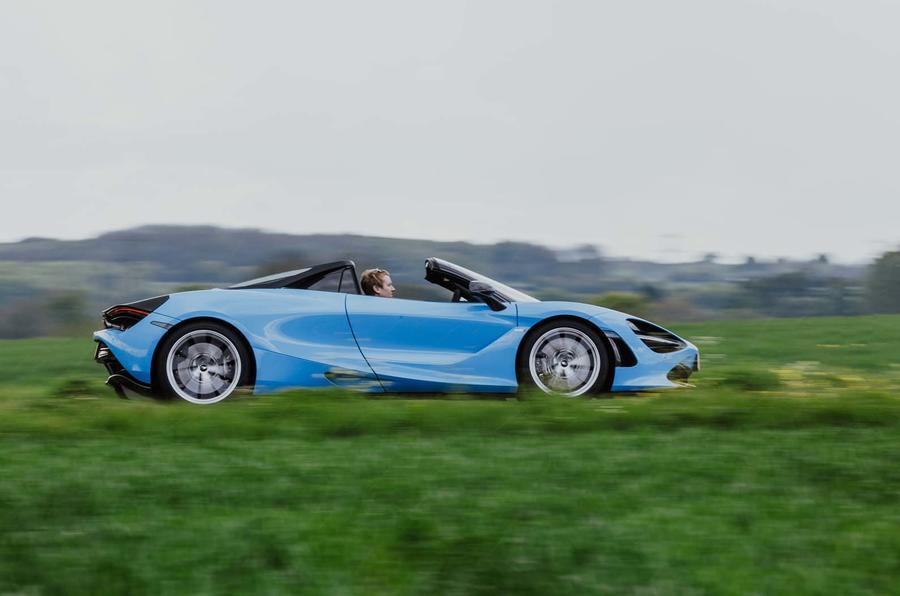 McLaren 720S driving - side profile