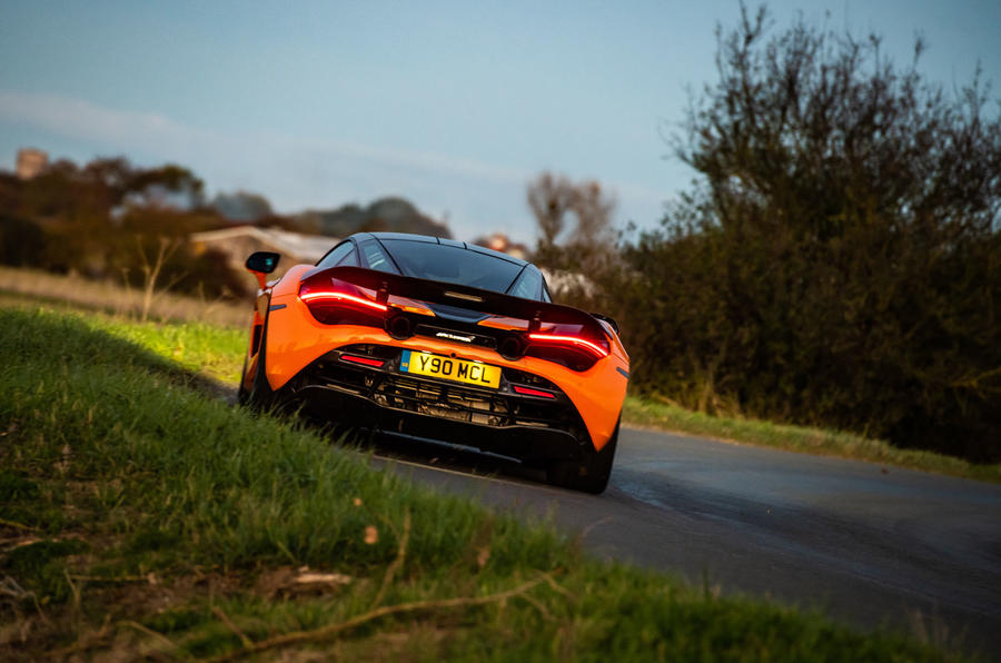 McLaren 720S Track Pack 2018 UK first drive review - hero rear