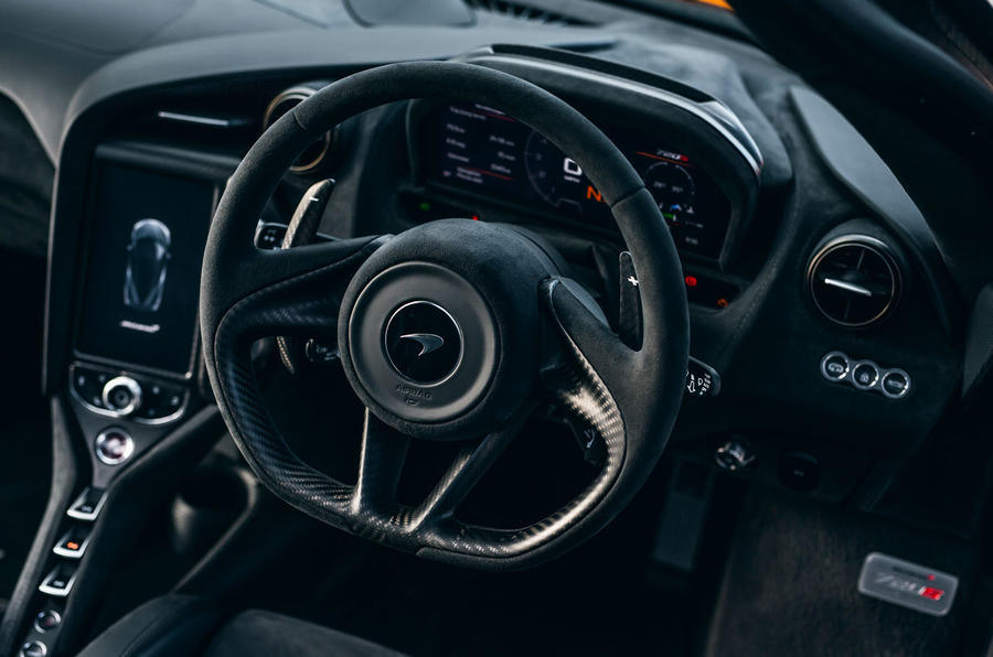 McLaren 720S Track Pack 2018 UK first drive review - steering wheel