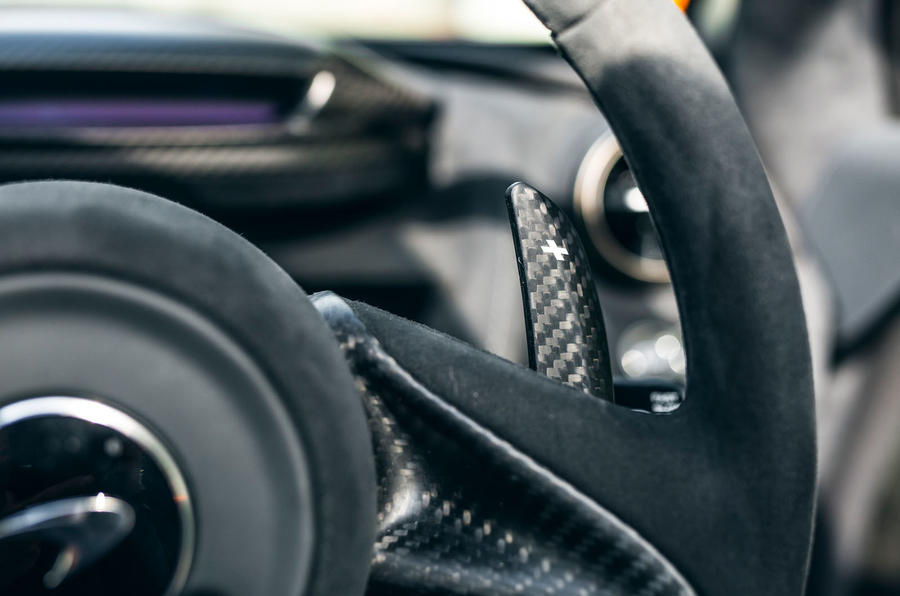McLaren 720S Track Pack 2018 UK first drive review - paddle shifters