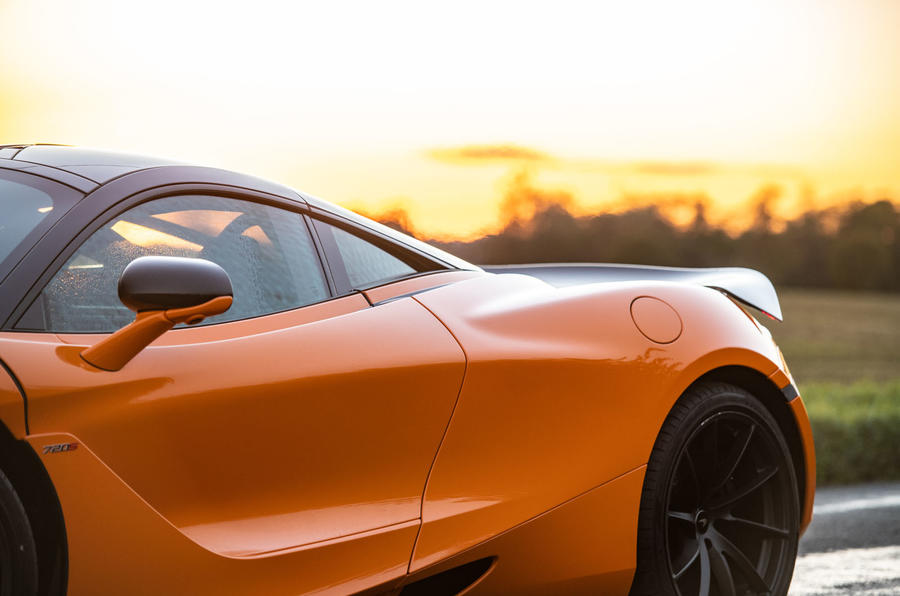 McLaren 720S Track Pack 2018 UK first drive review - rear aero