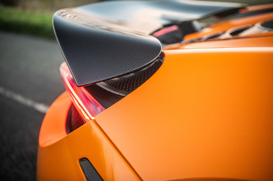 McLaren 720S Track Pack 2018 UK first drive review - spoiler