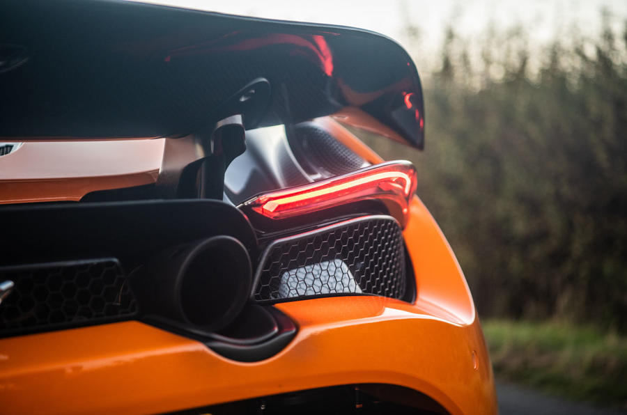 McLaren 720S Track Pack 2018 UK first drive review - exhaust