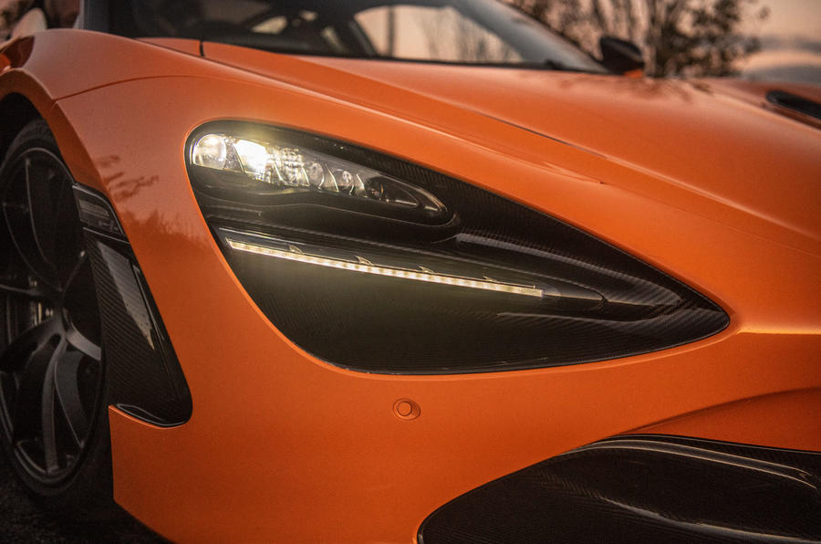 McLaren 720S Track Pack 2018 UK first drive review - front LEDs