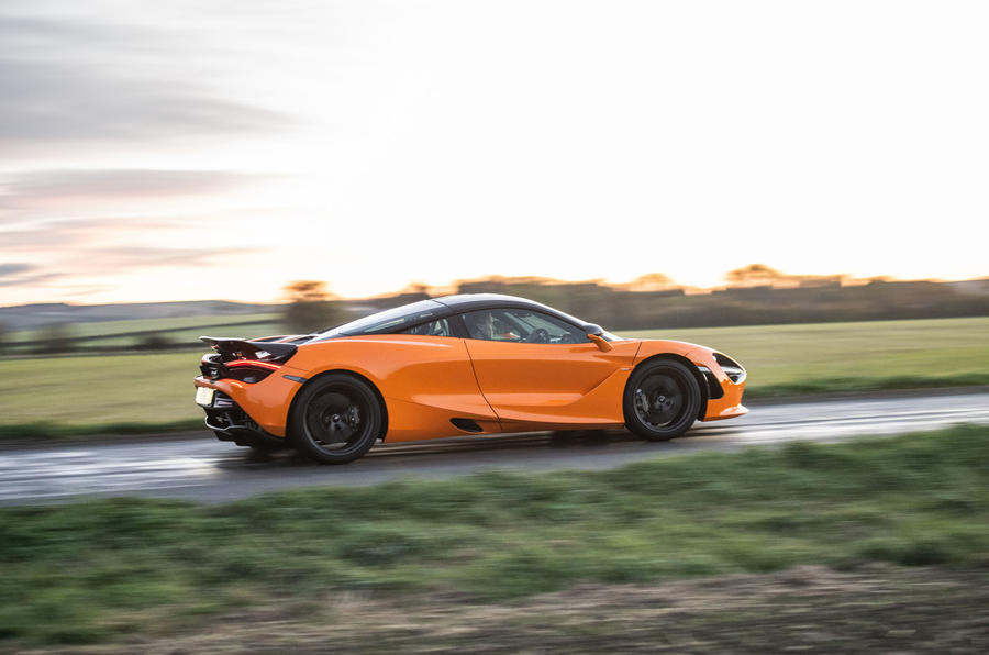 McLaren 720S Track Pack 2018 UK first drive review - on the road side