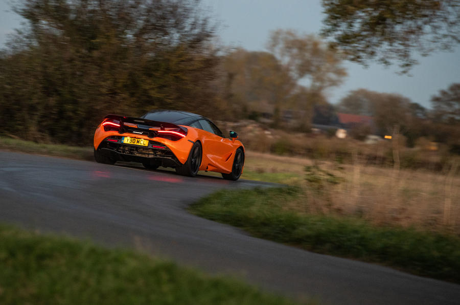 McLaren 720S Track Pack 2018 UK first drive review - cornering rear