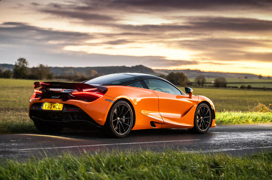 McLaren 720S Track Pack 2018 UK first drive review - static rear