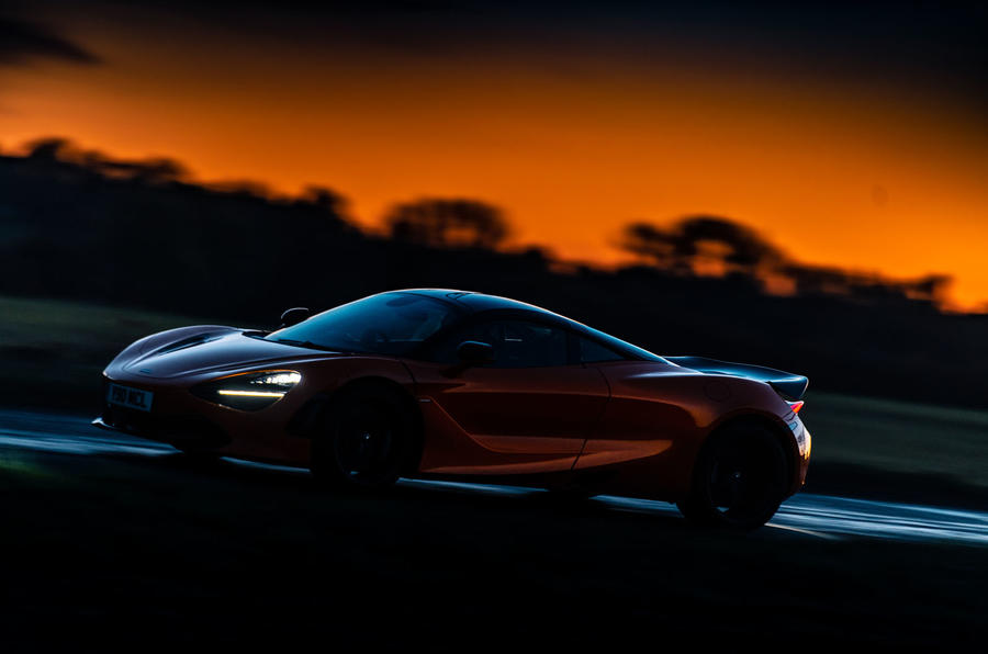 McLaren 720S Track Pack 2018 UK first drive review - on the road night