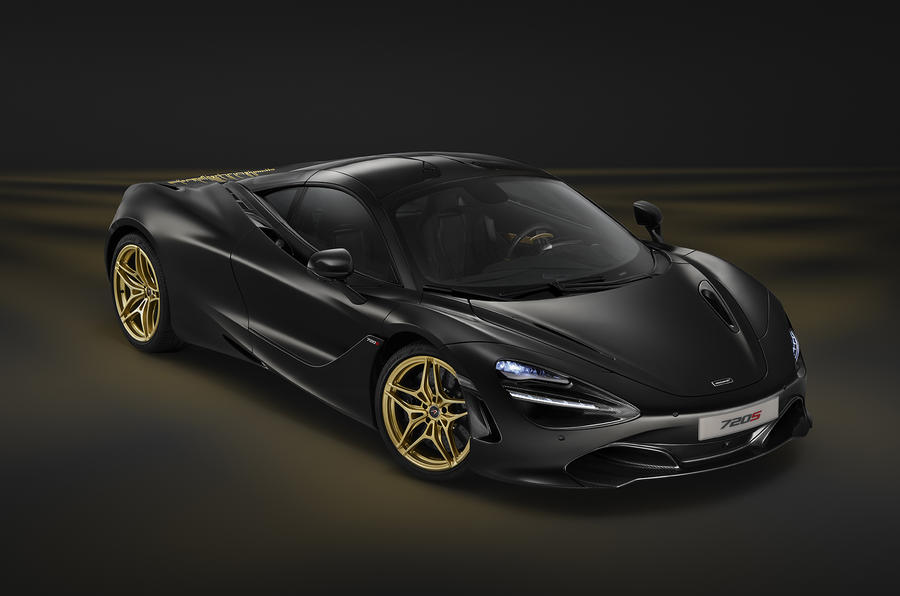 McLaren's new one-off, gold-covered 720S supercar