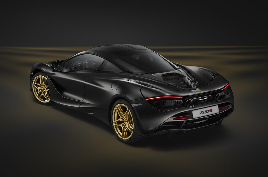 One-off satin black and gold McLaren 720S debuts in Dubai