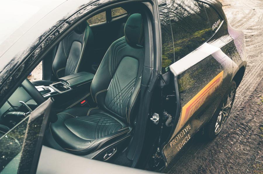 Aston Martin DBX 2020 prototype drive - seats muddy